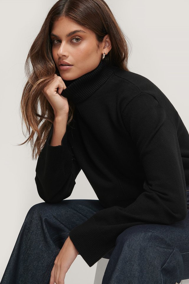 High Neck Knitted Sweater Basma & Merna x NA-KD