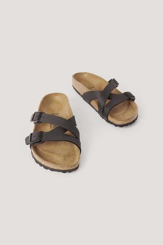 Black Slip-In Sandaalit