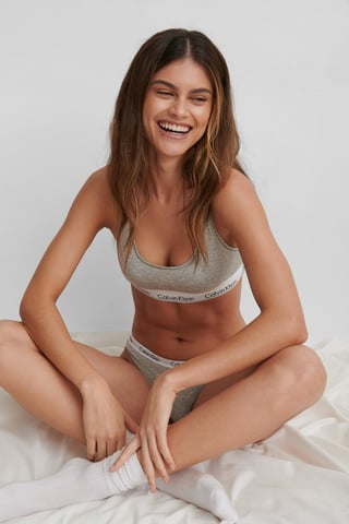 Grey Heather Bralette Modern Cotton
