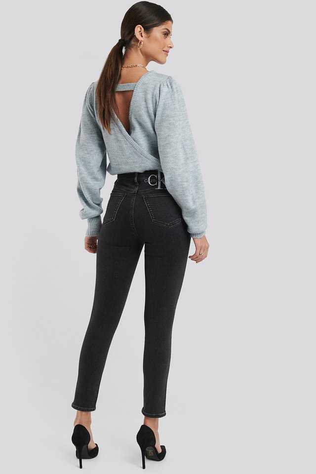 Black 010 High Rise Skinny Ankle Jeans