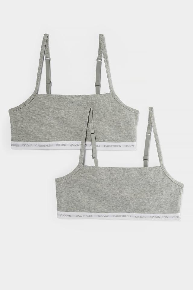 Ofodrad Bomullsbralette Grey