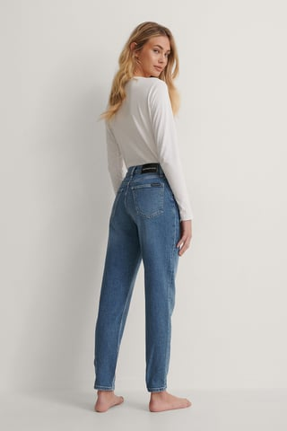 Mid Blue Mom-Jeans