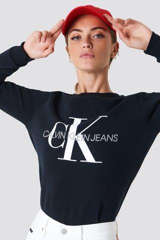 CK Black Core Monogram Logo Sweatshirt