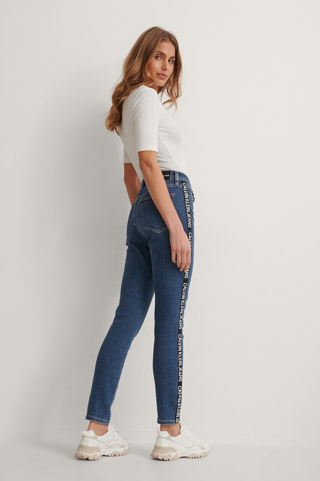 Denim High Rise Skinny Ankle Jeans