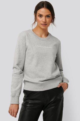 Light Grey Heather Institutional Regular Crew Neck Sweater