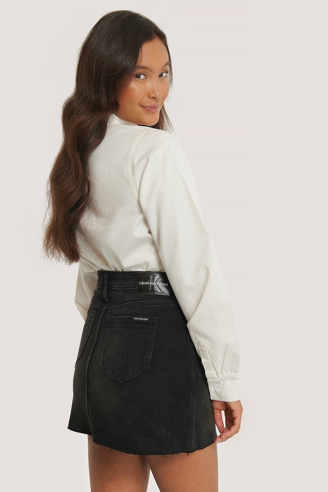 Minifalda De Talle Medio Black