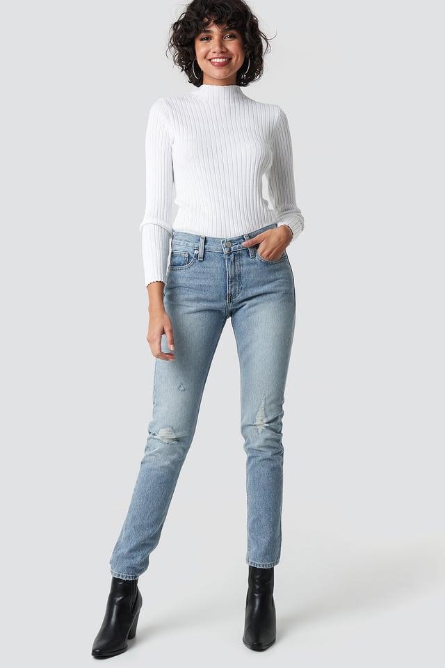 Mid Rise Slim Jeans Key West