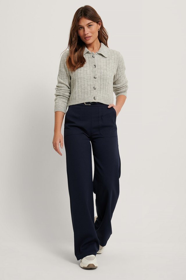 Carmen Pocket Trousers Navy