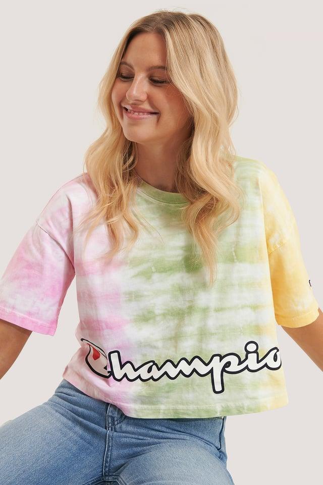 T-Paita Pyöreällä Pääntiellä Candy Pink