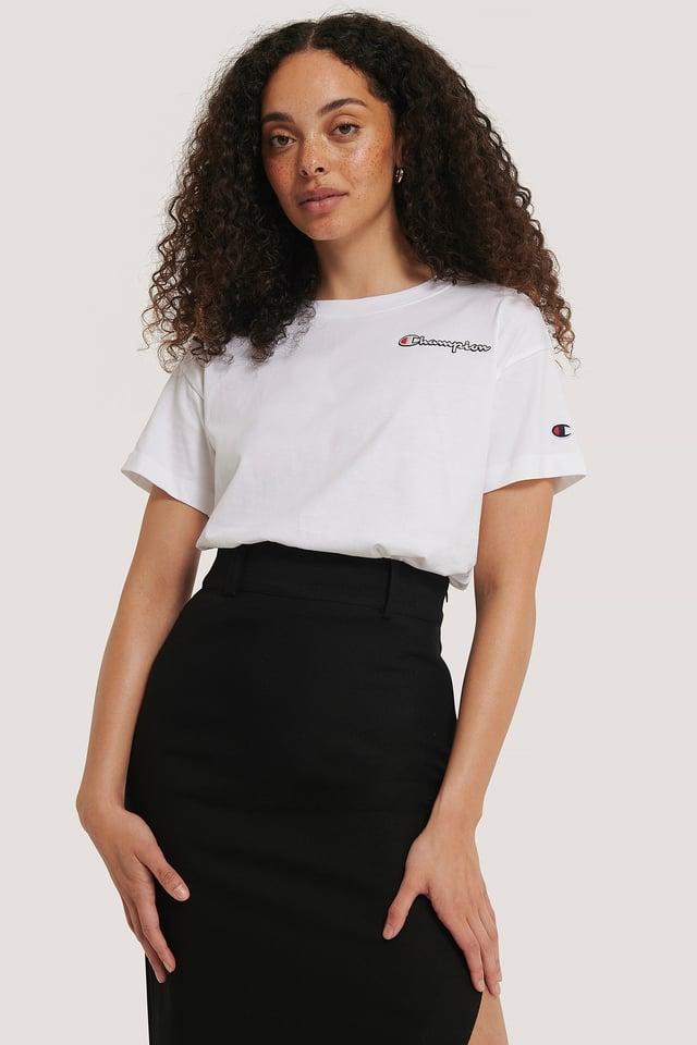 Logo Crewneck T-Shirt White