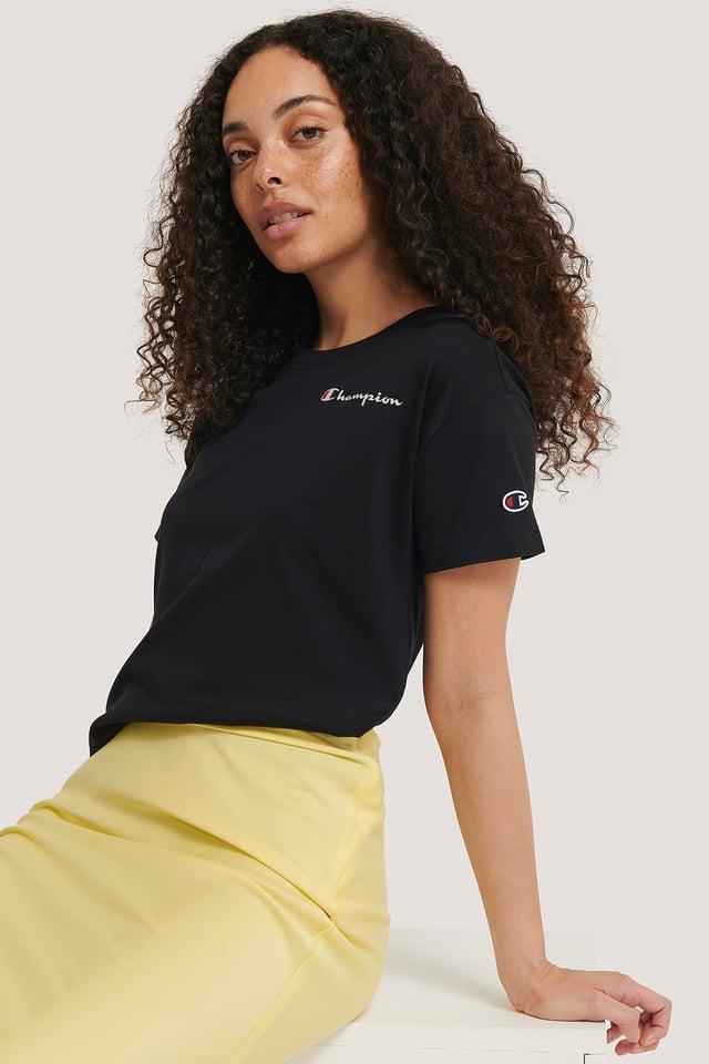 Logo Crewneck T-Shirt Black Beauty