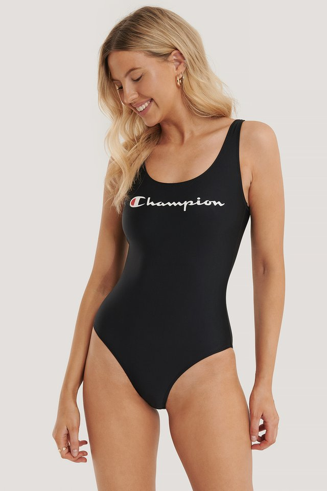 Logo Swimming Suit Black Beauty