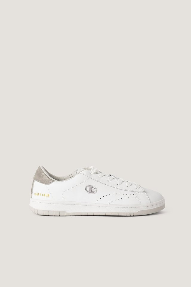 Low Cut Sneakers Court Club White/Silver