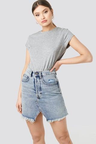 Blue Shrunken Skirt