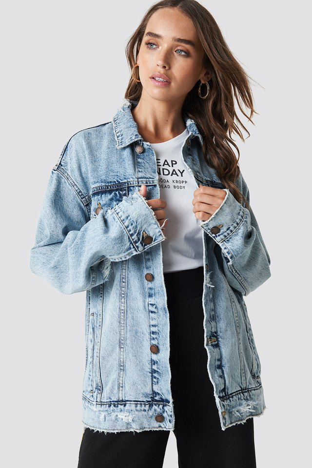 Upsize Jacket Trash Metal Jacket Cheap Monday