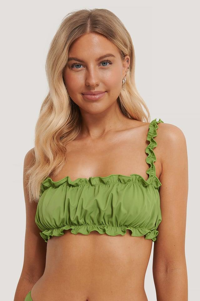 Rynket Bikinitop Green