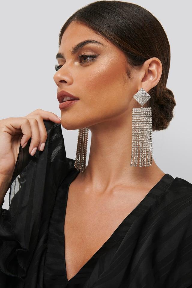 Strass Earrings Silver