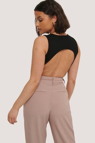 Black Open Back Body