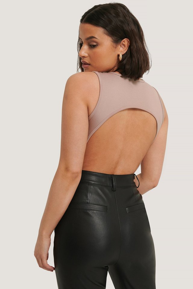 Open Back Body Mauve