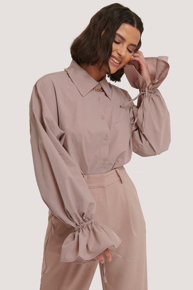 Wide Sleeve Shirt Mauve