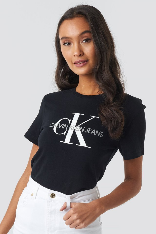 Core Monogram Logo Tee CK Black