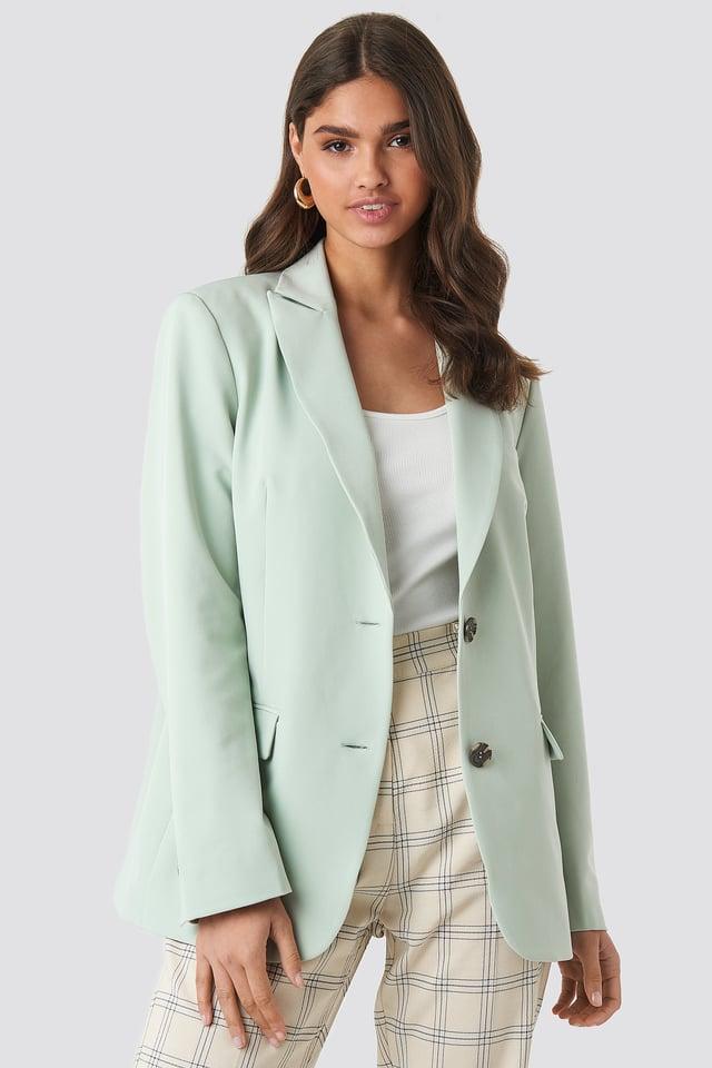 Oversized Fitted Blazer Dusty Green