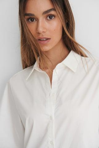 White Katoenen Shirt