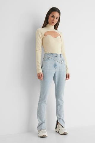 Light Wash Organisch Denim Jeans