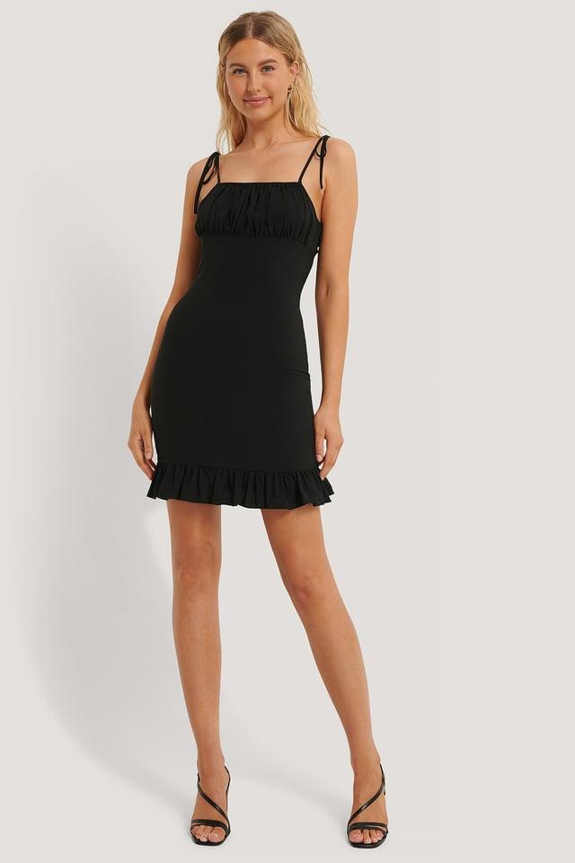 Frill Detail Dress Black