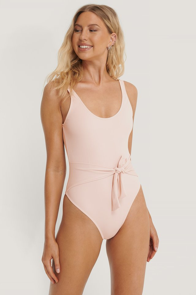 Dusty Lilac Tie Swimsuit