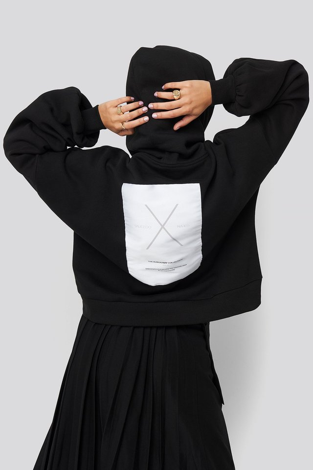Dropped Shoulder Oversized Hoodie Black