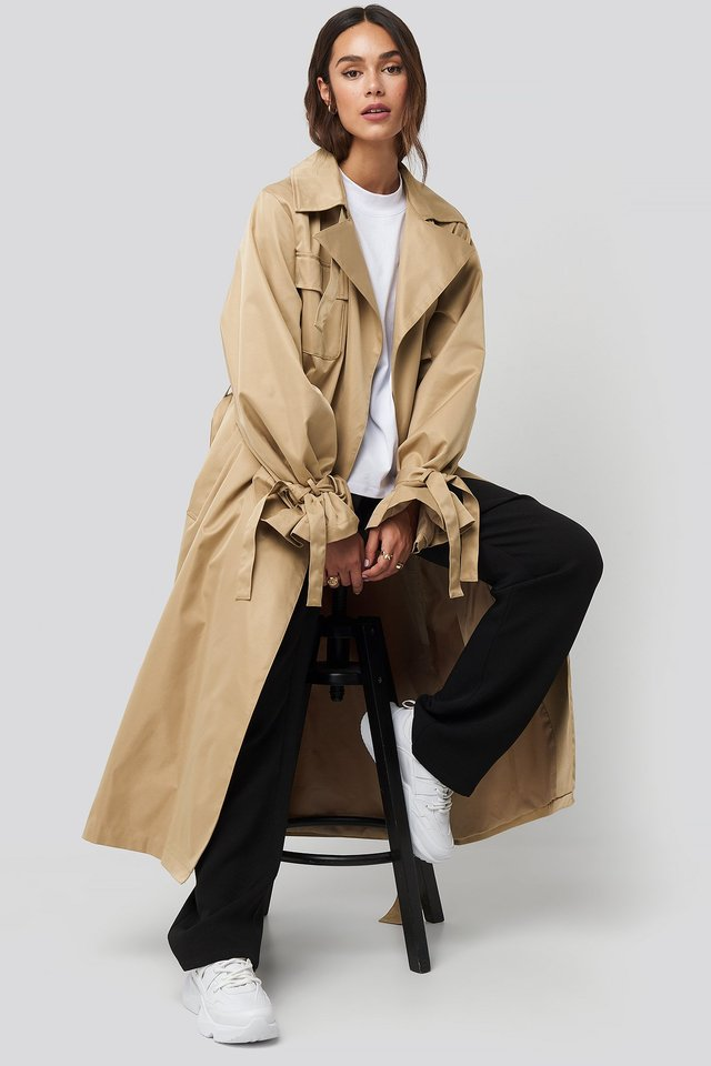 Volume Trenchcoat Beige