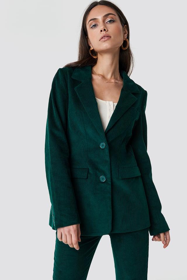 Corduroy Blazer Dark Green