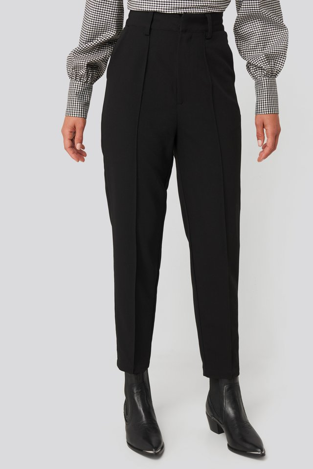 Front Seam Suiting Pants Black