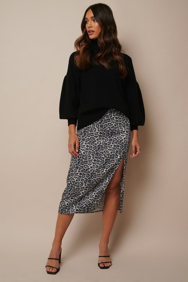 Leo Printed Midi Skirt Leoprint