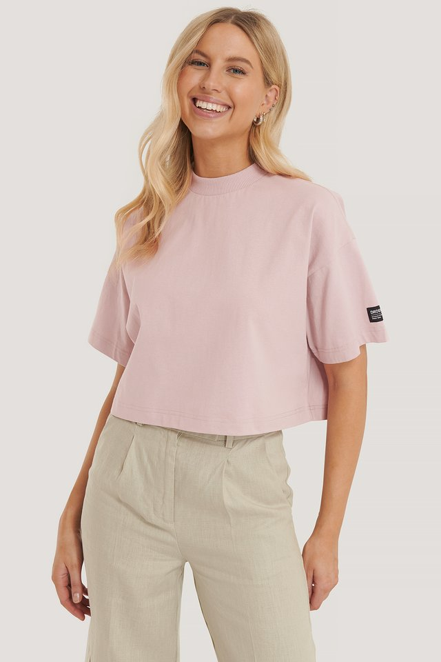 Bauchfreies T-Shirt Rose Quartz