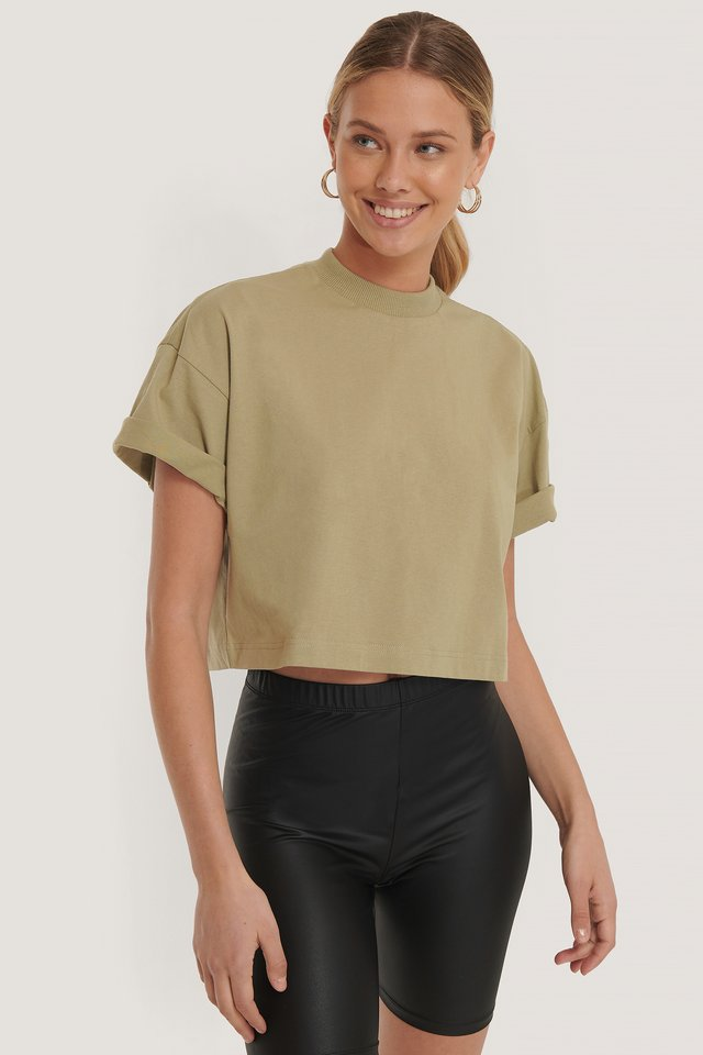 Bauchfreies T-Shirt Green Agate