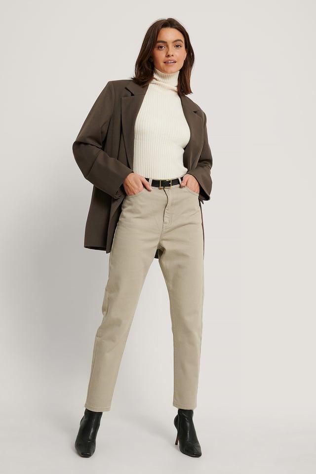 Cashew Mom Jeans Med Superhøyt Liv