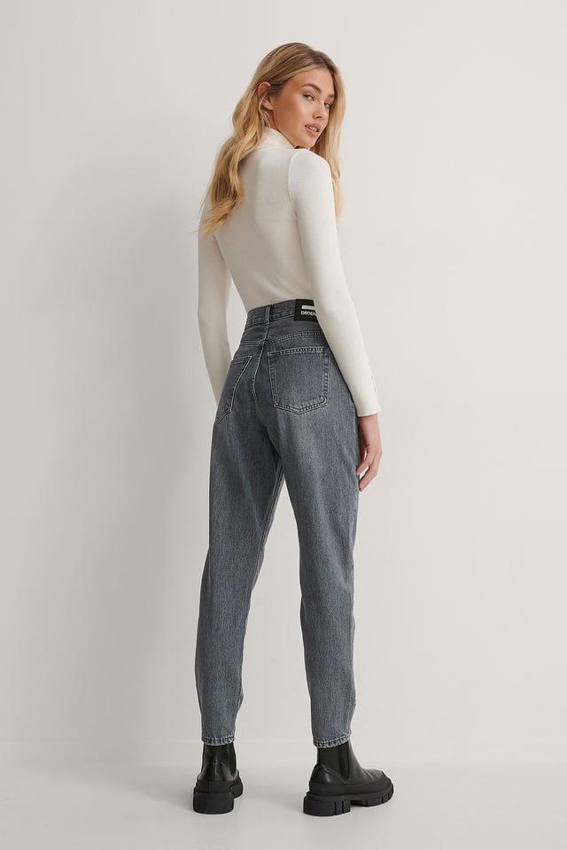 Washed Grey Vaskede Jeans
