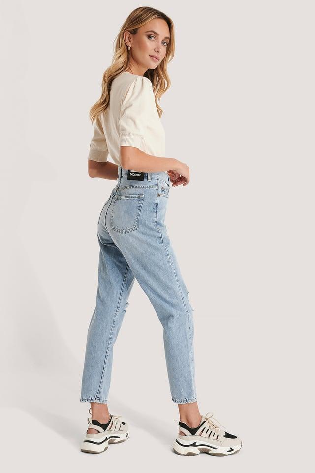 Nora Jeans Destiny Blue Ripped