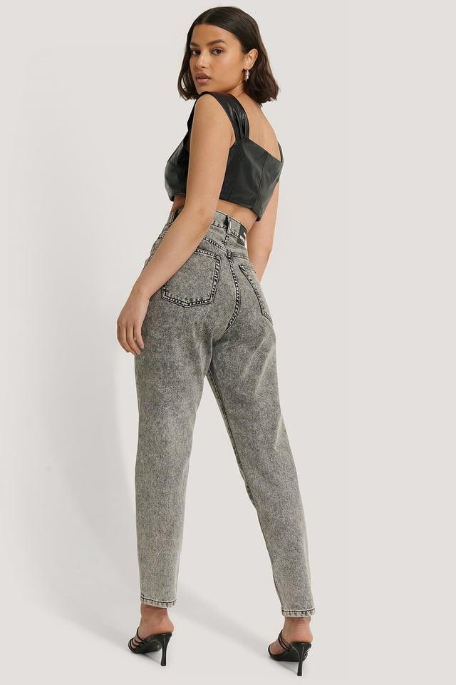 Grey Retro Stone Nora Jeans