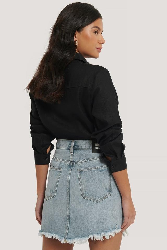 Sara Denim Skirt Destiny Blue Ripped