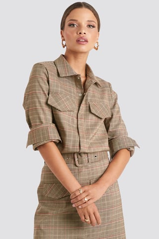 Checkered Checked Pocket Shirt