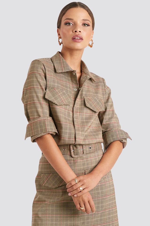 Checkered Checked Pocket Shirt