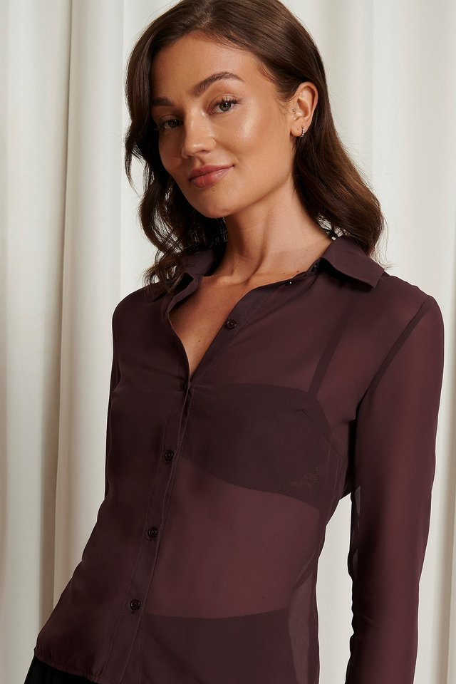 Chiffon Shirt Emma Ellingsen x NA-KD