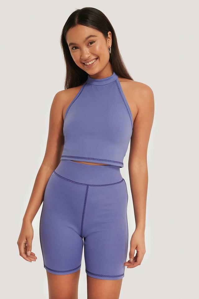 Violet Biker Shorts