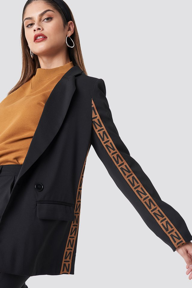 Black/Burned Brown N Branded Blazer