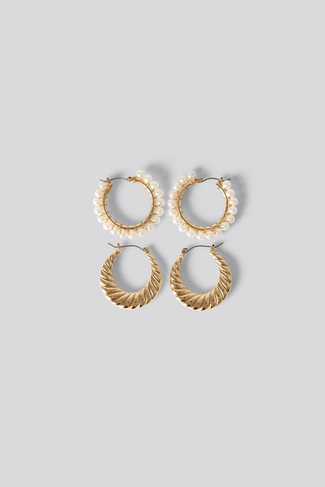 2-pack Earrings Gold