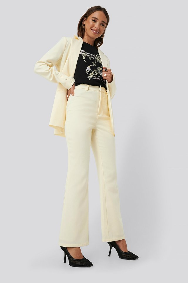 Off White Highwaisted Suit Pants