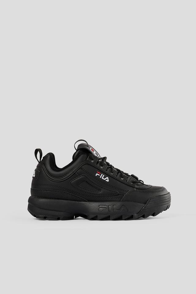 Black/Black Chunky Sneakers